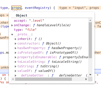 The inherit property on the object prototype